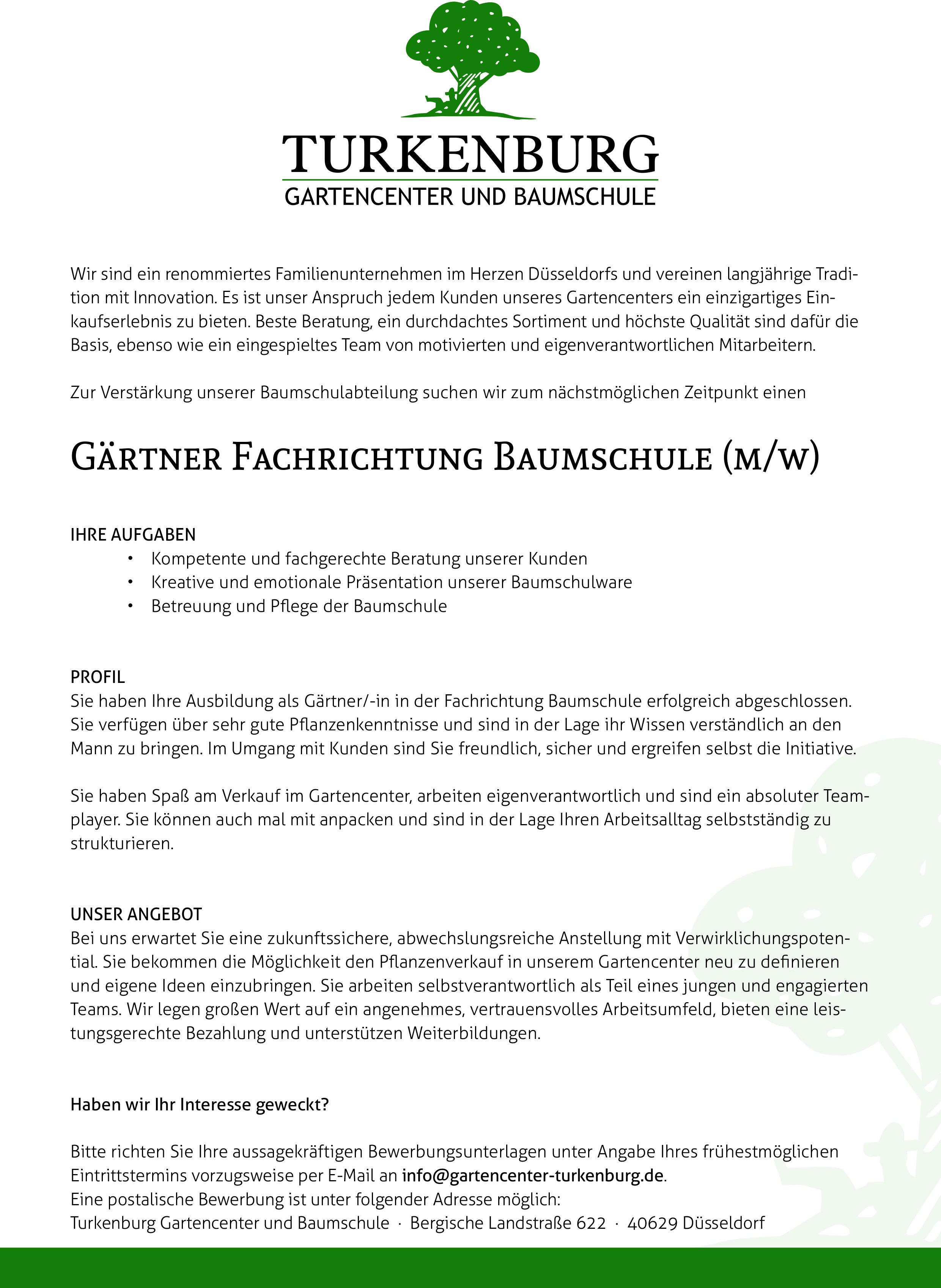 170807_stellenanzeige_02indd - Bewerbung Als Gartner